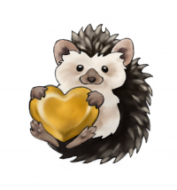 Heart of Gold Hedgehogs Logo