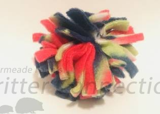 Fleece Strip Ball - Colors Vary