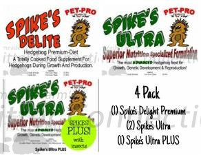 4 Pack Spike's Samplers