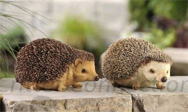 SET of 2 Lifelike Hedgehog Figurines