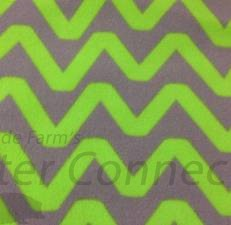 Neon Green / Gray Chevron