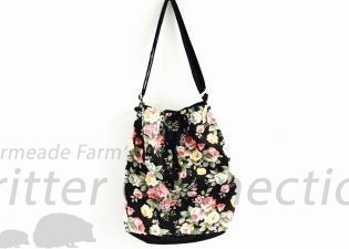 Flower Drawcord Bag