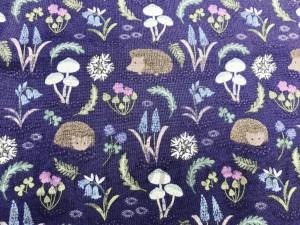 Hedgies Flowers Dark Blue
