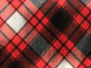 Black Red White Plaid