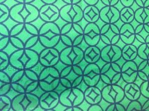 Green/Navy Diamond Circles