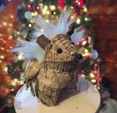 Rustic Holiday Cheer Hedgehog Ornament
