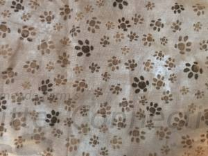 Tan Pawprint Cotton