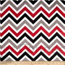 Black-Red-Gray-White Chevron